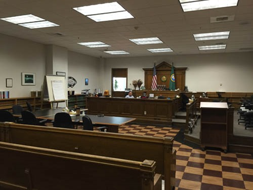 Photo of the courtroom