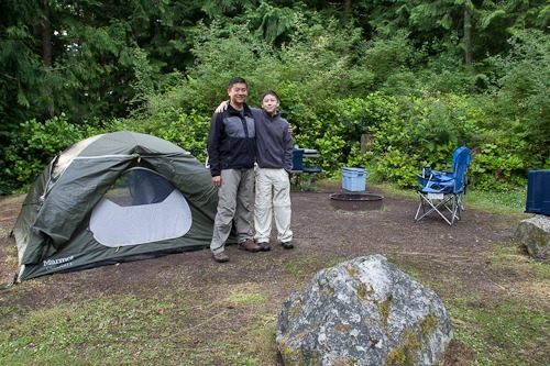 Andrew and Tony in our campsite.