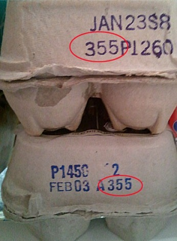 Egg carton codes