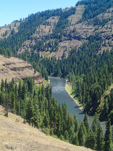 View of the Grande Ronde River from the top of a nearby hill