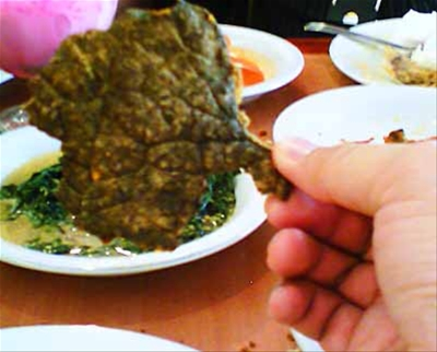 Nasi Padang - fried beef lung