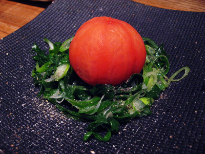 Amazing tomato salad at Restaurant Kurosawa
