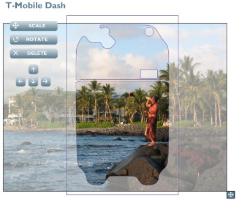 The customization screen with a photo I took in Hawaii.