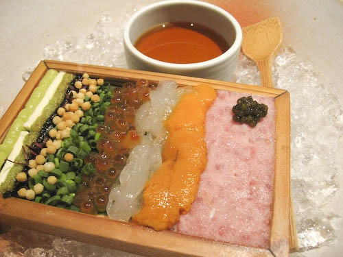 Amazing combination sashimi appetizer