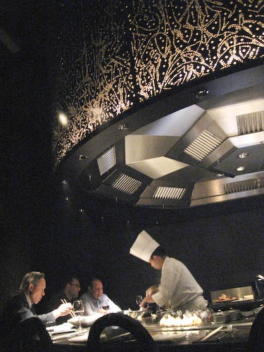 Lovely setting including a cool grill hood at Morimoto XEX.