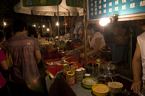 Food and souvenier stalls