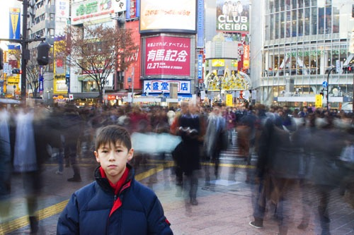 Andrew in Shibuya Crossing