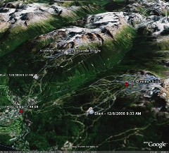 3D map of my skiing on Whistler/Blackcomb