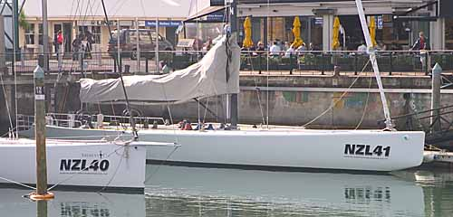 The SailNZ AC yachts