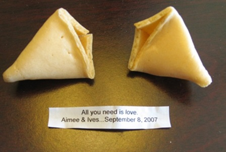 Wedding fortune cookie