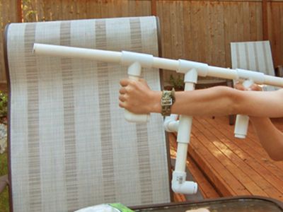 Michael's assault rifle marshmallow gun.
