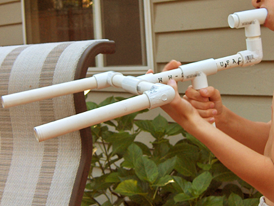 The unsuccessful multi-barreled marshmallow gun.