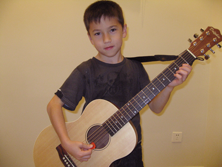 Michael Chor with his new guitar