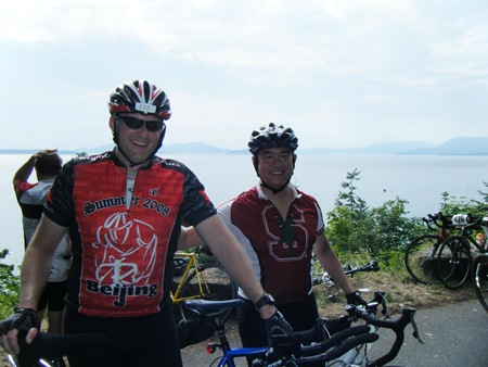 Jason and Tony on Chuckanut Drive.