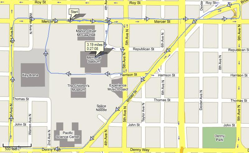 Toys for Tots Trot race route