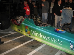 Vista race car (I think we're sponsoring the car).