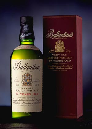 Ballantines 17 year old Scotch