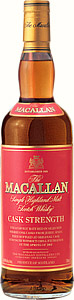 A bottle of the Macallan Cask Strength