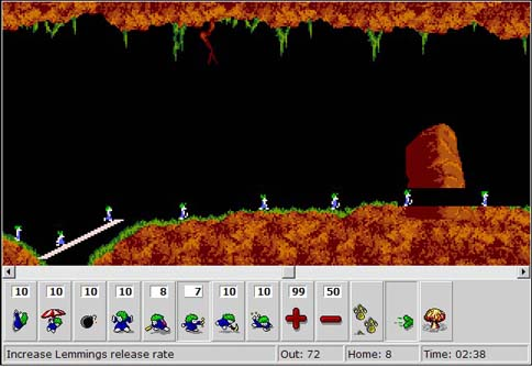 DHTML Lemmings screenshot
