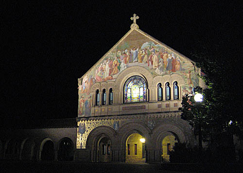 Memorial Church at Stanford University. Photo by me.