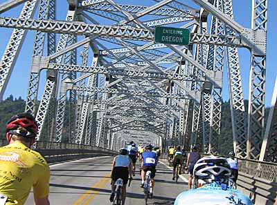 Entering Oregon on the Lewis and Clark Bridge