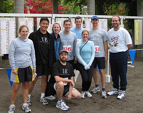 Team IE after the race