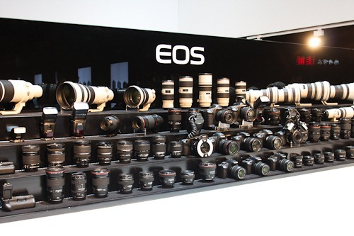 Showcase of all of the Canon lenses and bodies.