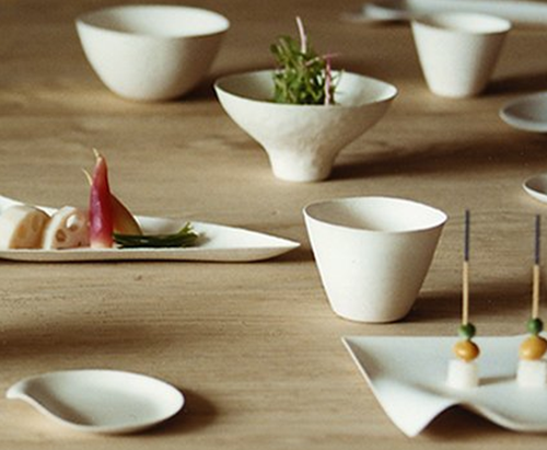 Wasara cups, bowls and plates